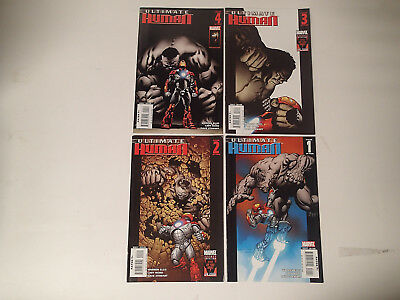 ULTIMATE HUMAN Complete run #1-4 Marvel Comics 2008 FN-VF Hulk vs Iron Man  FL