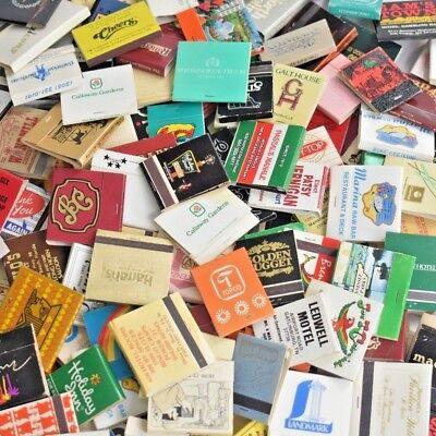 MATCHES LOT of 100 MATCHBOOKS New & Unused Full BOOKS of MATCHES ~Over 1 lb!~
