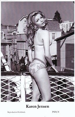 KAREN  JENSEN -  hollywood  MOVIE star PIN-UP/CHEESECAKE  modern 2000 postcard