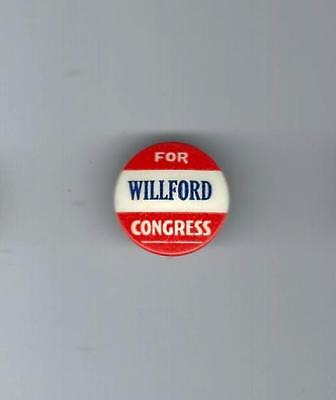 Vintage Willford For U.s. Congress - Iowa Campaign Button