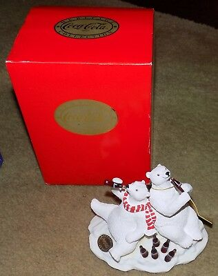 VTG NIB 1994 Coca Cola Heritage Collection Polar Bear & Friends Figurine Coke