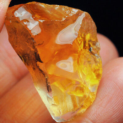 VVS 129.9Ct 100% Natural Golden Orange Citrine Facet Rough Specimen YOCT4074