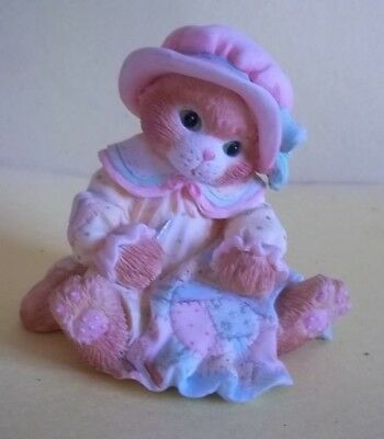 Calico Kittens Figurine - Our Friendship Is a Quilt of Love - c. 1993
