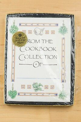 vintage COOKBOOK BOOK PLATES unopened package ANTIOCH PUBLISHING