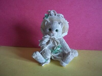 """Calico Kittens Figure by Enesco - Blossom - c. 1992  # 4430/791 - 3"""" tall"""