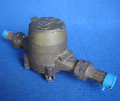 "Nos ~ Neptune Water Meter ~ Nsf 61 5/8"" T-10 ~ Solid Brass ~ Usa ~ Unused"