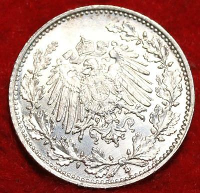 1918-D Germany 1/2 Mark Silver Foreign Coin