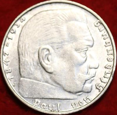 1939 Germany 2 Mark Silver Foreign Coin