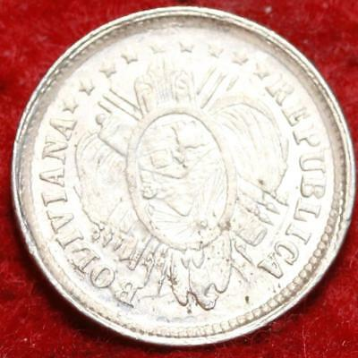 Uncirculated 1886 PTS Bolivia 5 Centavos Silver Foreign Coin