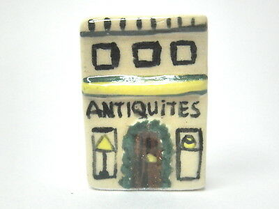 Dollhouse Miniature French Antiques shop - hand made ceramic