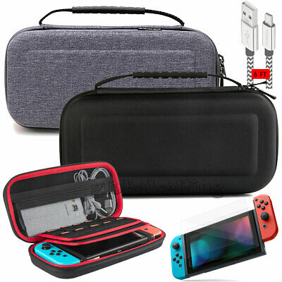 Accessories Case Bag+2 Meter Charging Cable+Screen Protector For Nintendo Switch