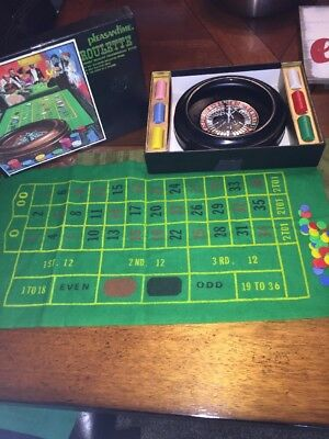 Pleasantime Roulette wheel Casino night gambling Party Game set with chips EUC