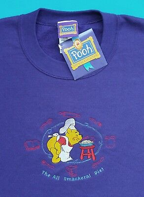 Winnie the Pooh Purple Sweatshirt~Womens Size XL~The All Smackeral Diet~Cooking