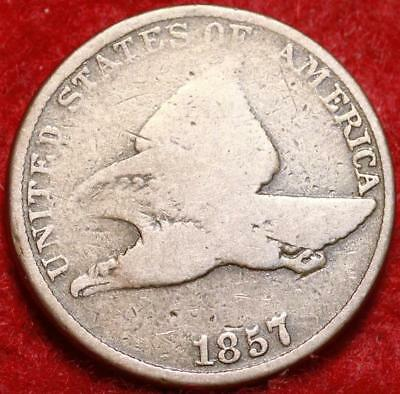 1857 Philadelphia Mint Copper-Nickel Flying Eagle Cent
