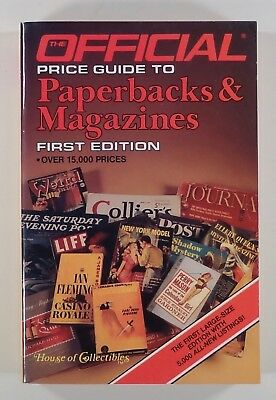 1986 OFFICIAL PRICE GUIDE TO PAPERBACKS & MAGAZINES first edition COLLECTIBLES