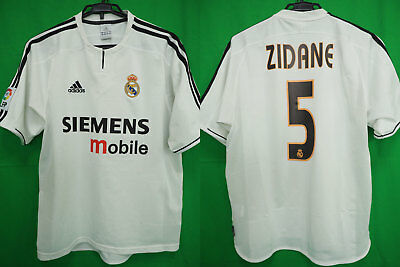 separation shoes cb3a4 06694 2003-2004 REAL MADRID Jersey Shirt Camiseta Home SIEMENS mobile Zidane #5 M