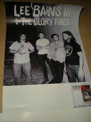 POSTER by LEE BAINS III + glory fires youth detention Promo for the new album cd