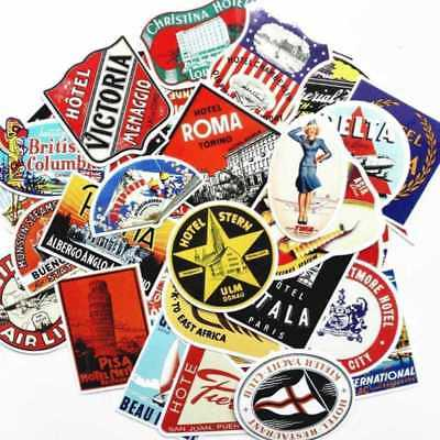 55 Retro Vintage Old Fashioned Style Luggage Suitcase Travel Stickers Gift