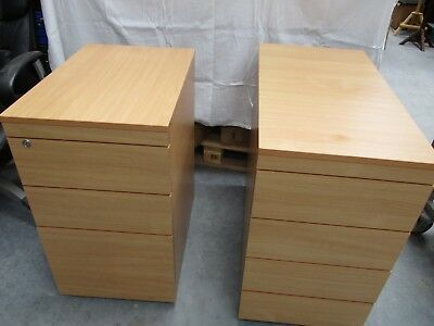 2 Quality Heavy Office (Or Home) Cabinets On Castors 1 Filing Cabinet Blackpool