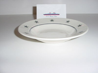 SS UNITED STATES LINES  Soup Bowl  /  Gray-Star Pattern  /  Mayer China Co.
