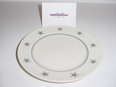 SS UNITED STATES LINES  Lunch Plate  /  Gray-Star Pattern  /  Mayer China Co.