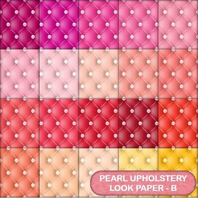 Quilted Pearl Look  Scrapbook Paper - C - 20 A4 Pages