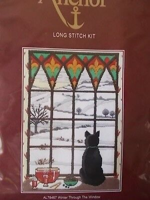 """Long Stitch Kit """" Winter Through the Window"""" New by Anchor"""