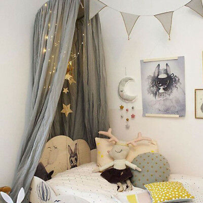 Bedding Round Dome Bed Canopy Linen Mosquito Net Curtain Baby Bedding Set Cot