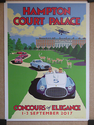 Concours of Elegance Poster Hampton Court Palace September 2017