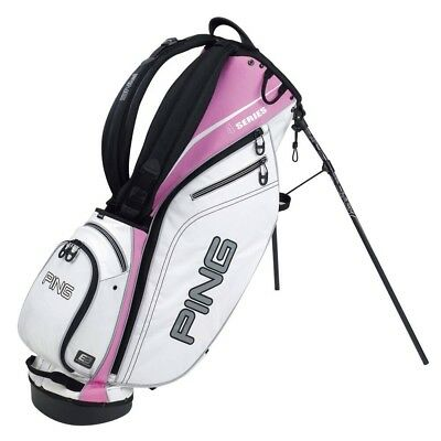 Tolle Golf Tragetasche PING 4 Series Carry Bag weiß/pink Topzustand