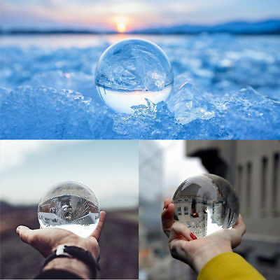 60mm Clear Glass Crystal Healing Ball Photography Lens Ball Sphere Decorati USA