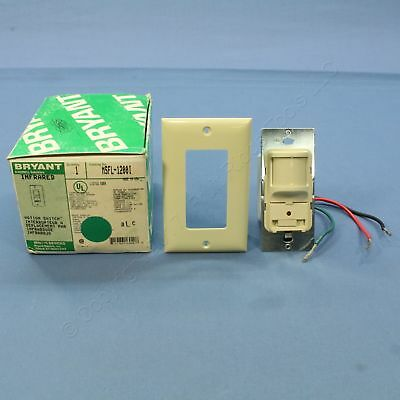 Bryant Ivory Hall Switch Motion Sensor Fluorescent Incand Infrared 1200 SQ FT