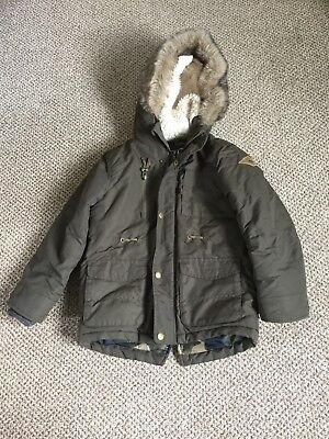 bd76cb750fa9 BOYS 4-5 GAP Khaki Corded Padded Jacket - £4.00