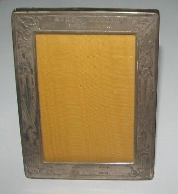 """Vintage Webster Sterling Silver 3.25"""" X 4.25"""" Birth Record Picture Frame"""