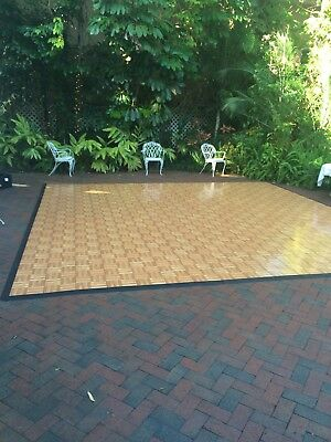 "Portable 36"" X 36"" Square Oak Wood Dance Floor 90 squares as 1 lot MORE PICTURES"