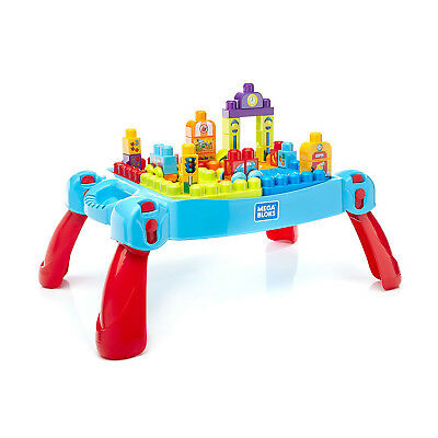 Mega Bloks Build 'n Learn Building Blocks Set Activity Kids Play Table | FGV05