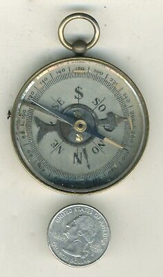 Antique Brass Pocket Compass 2""