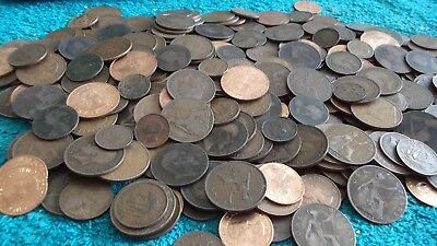 JOB LOT OF 1.7 KGS OF BRITISH COPPER COINS WITH FREE POSTAGE 99p  BC OVER 1700