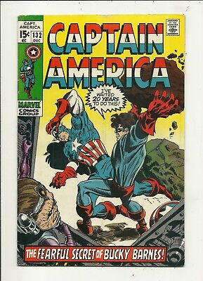 Captain America # 132 Fine Minus Condition!!! Affordable!!!