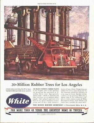White Truck on a 1944 ad (bringing raw material to L.A. Synthetic Rubber Plants)