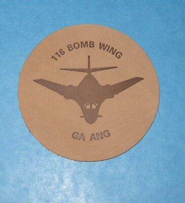NEW Georgia Air National Guard 116 Bomb Wing Leather Coaster