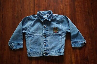 Vintage 80s Toddler Kids Levi's Denim Jean Jacket Size 5 EUC