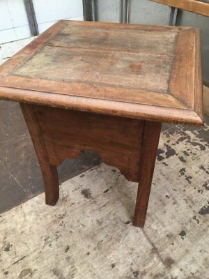 Vintage Solid Wood Farmhouse Side/ Bistro/ Pub Or Bar Table