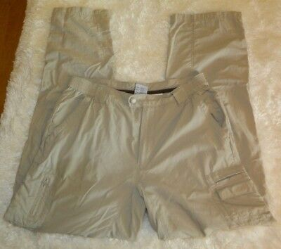 Women's Columbia Titanium Convertible Outdoor Hiking Pants Size Medium Beige