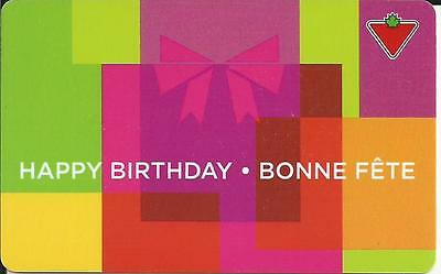 Happy Birthday Mint Gift Card From Canadian Tire Canada Bilingual 01/16 No Value