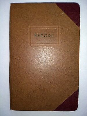 HANDWRITTEN TRAVEL DIARY-4 Trips In 4 Years-Camping-New England-Florida-1952-55