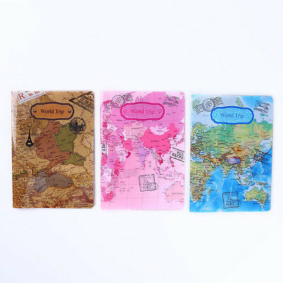 Travel Passport Cover Cell Phone Case ID Credit Card Holder World Map Design CB