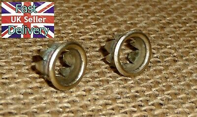 X2 SMITHS ENFIELD  MANTLE CLOCK FACE GROMMETS FOR WINDING HOLES. FOR 11mm HOLE.