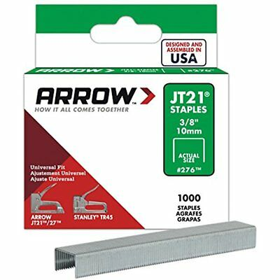 1000 Pack Arrow Staples gun Genuine 276 Fastener JT21/T27 3/8 Inch Heavy Duty