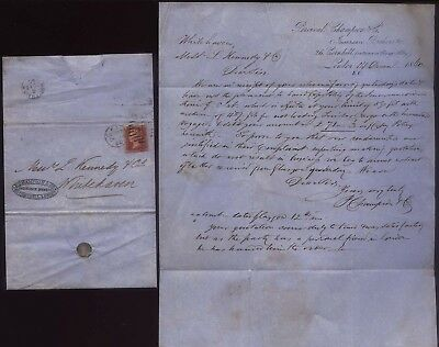 1860-61 Shipping Correspondence to WHITEHAVEN ,from LIVERPOOL,LONDON,QUEENSTOWN